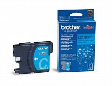 Картридж Brother LC1100HYC (голубой) для DCP-185C/DCP-385C/DCP-6690CW, MFC-490C/MFC-6890CN (900 стр.)