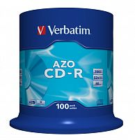 CD-R Verbatim 700Mb 52x AZO Crystal Cake Box 100шт 43430